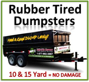 Rubber Tired Dumpsters No Damage