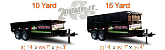 2 DUMP IT Rubber Tired Dumpsters
