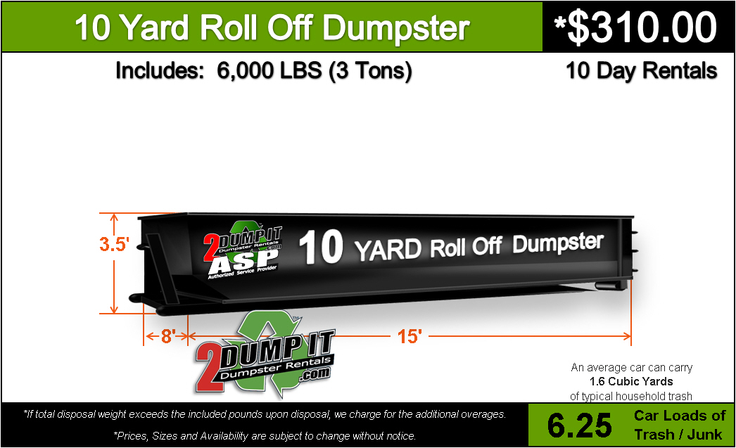 10 Yard Roll Off Dumpster Rental St. Louis, MO