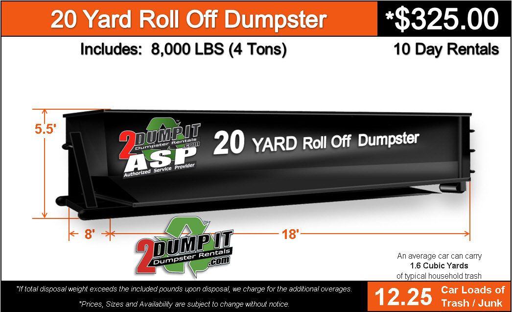 20 Yard Roll Off Dumpster Rental St. Louis, MO