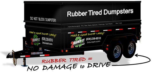 Rubber Tired Dumpster - Wheeled Dumpster, Dumpster on Wheels