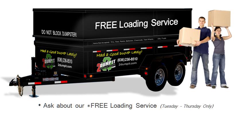 junk removal, junk hauling, free loading service for junk dumpster