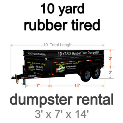 10 Yard Rubber Tired Dumpster