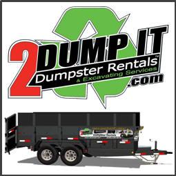 15 Yard Rubber Tire Dumpster