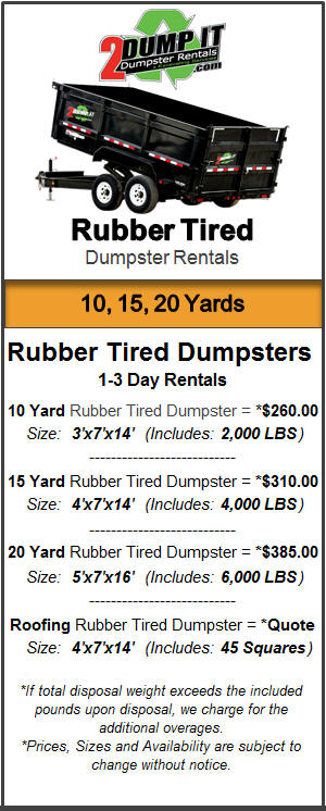 Rent a Rubber Tired Dumpster