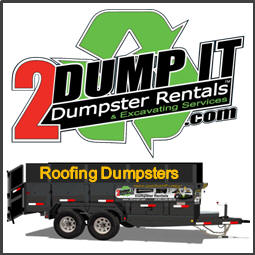 Roofing Dumpster - Rubber Tire Dumpster