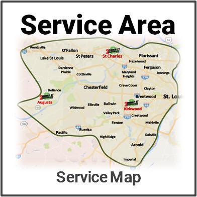St Louis Dumpster Rental Service Area